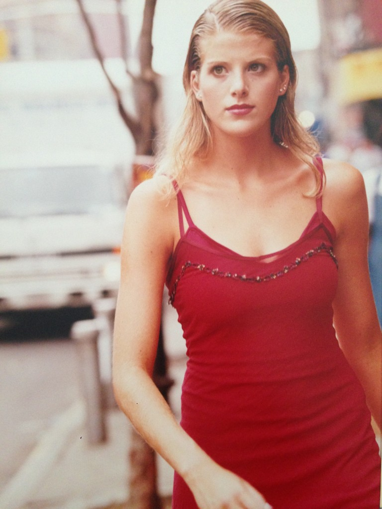 Toni Modeling red dress NYC